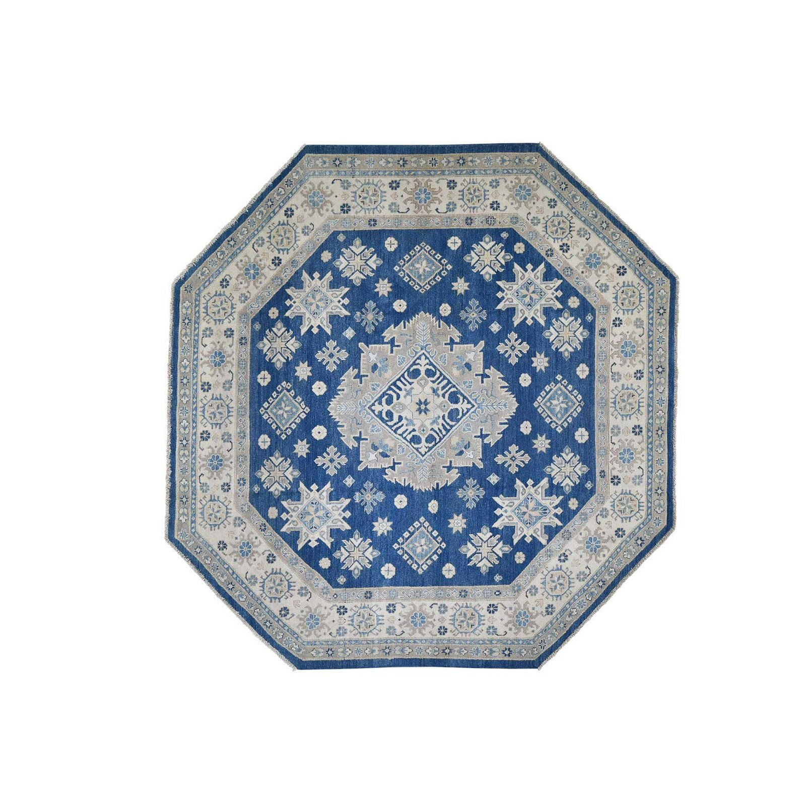 Look Kazak Pure Wool Octagonal Hand-Knotted