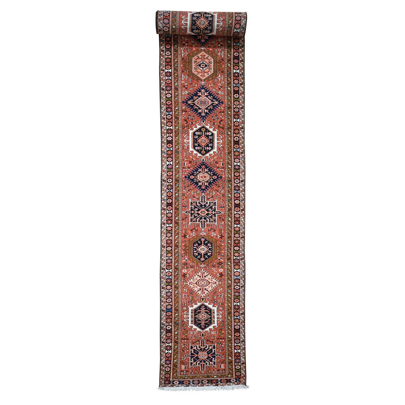 New persian Karajeh XL Runner Pure Wool Hand-Knotted