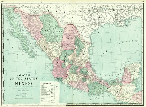 Map of the United States of Mexico - Aug 27, 2019 | Jasper52 ...
