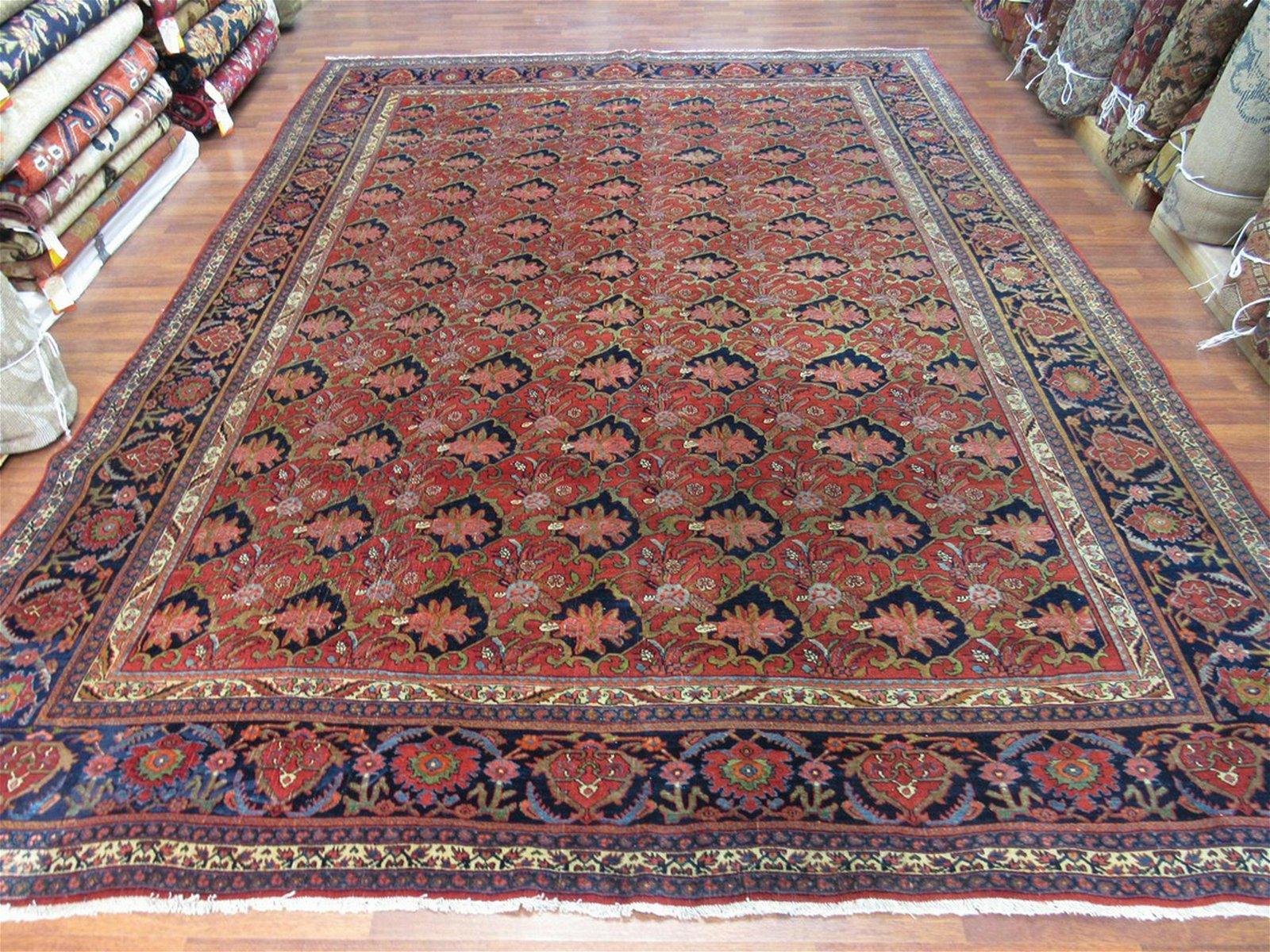 Antique Persian Room size Bidjar Rug