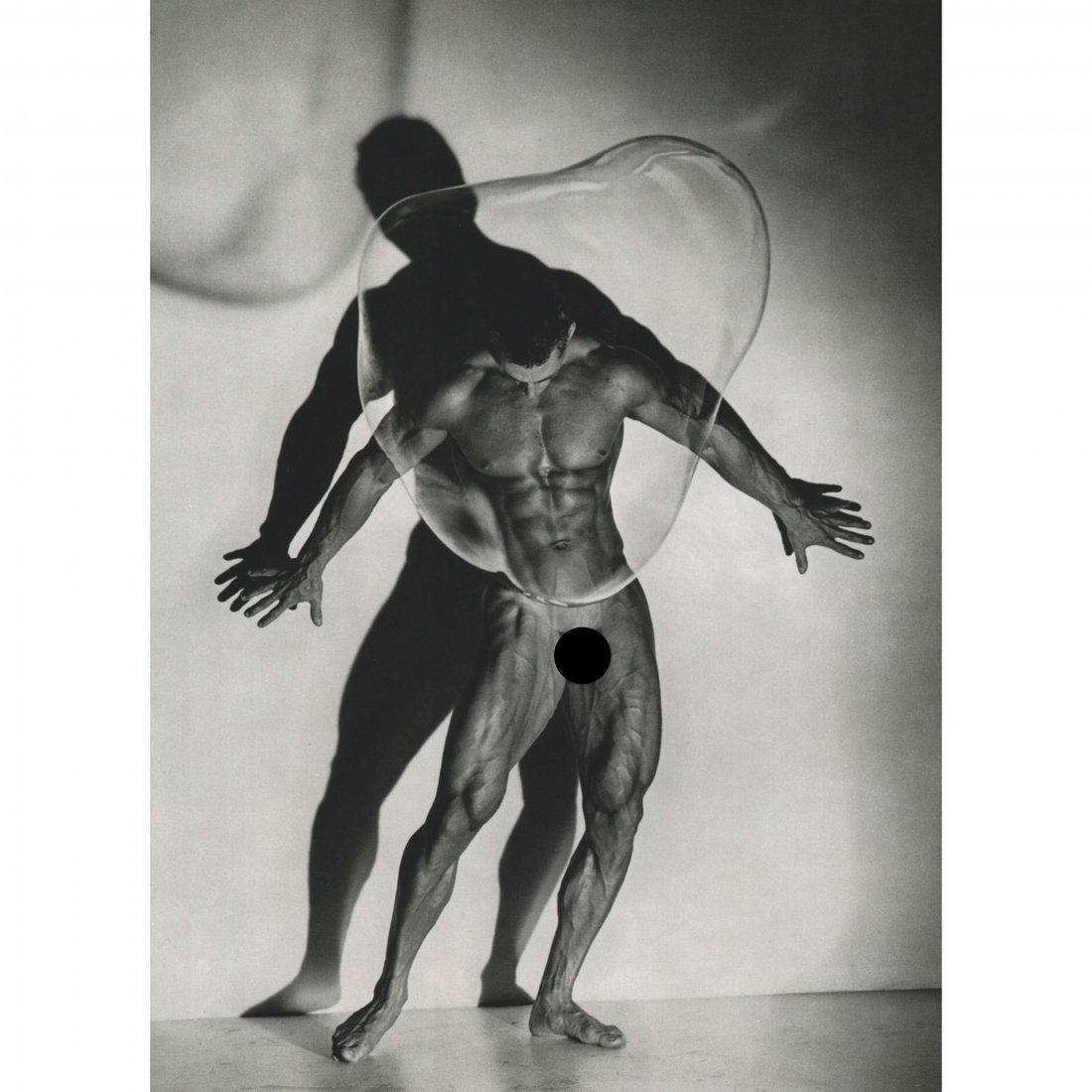 HERB RITTS - Male Nude with Bubble, 1987
