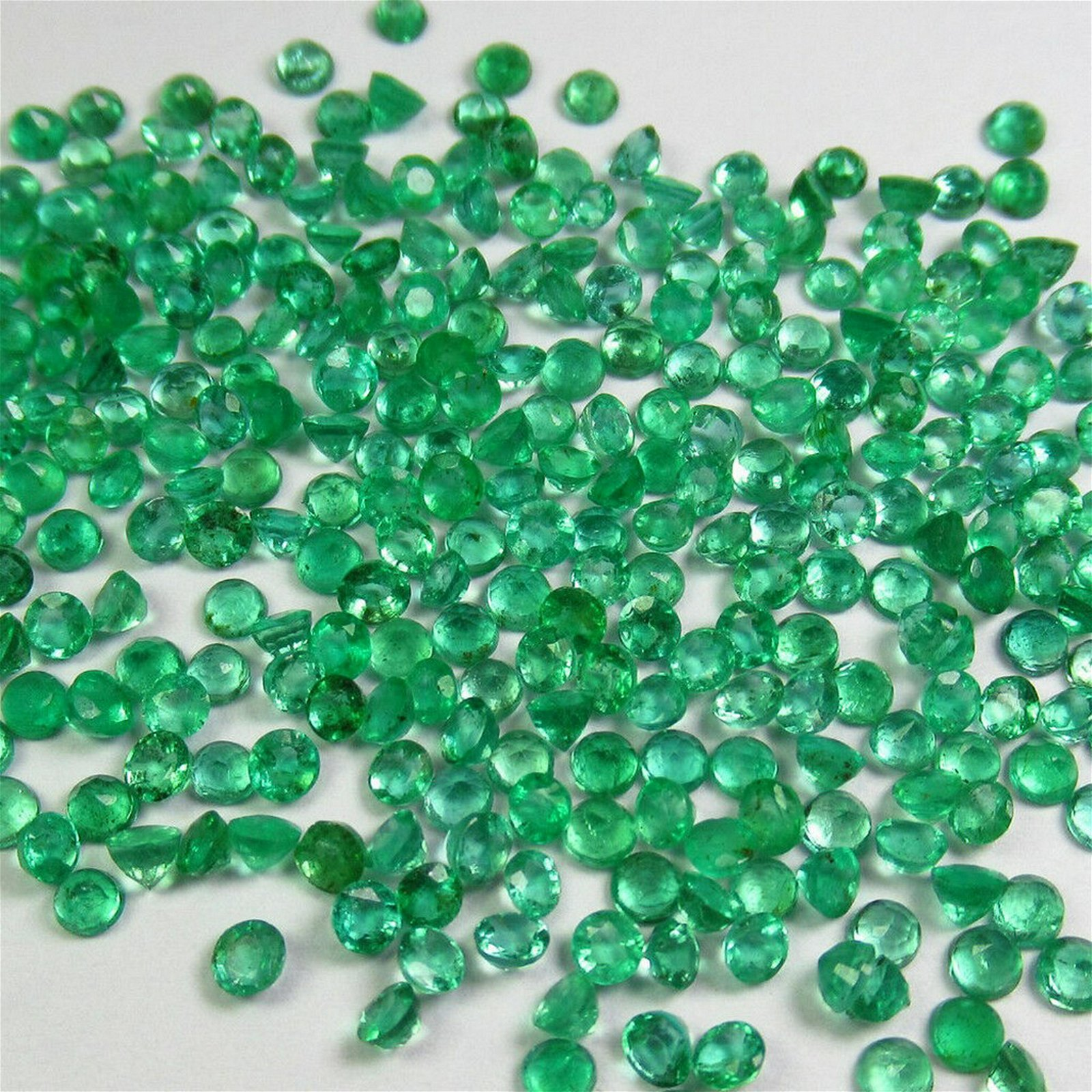 10.00 Ct Genuine 154 Emerald Calibrate 2.5 mm Round Lot