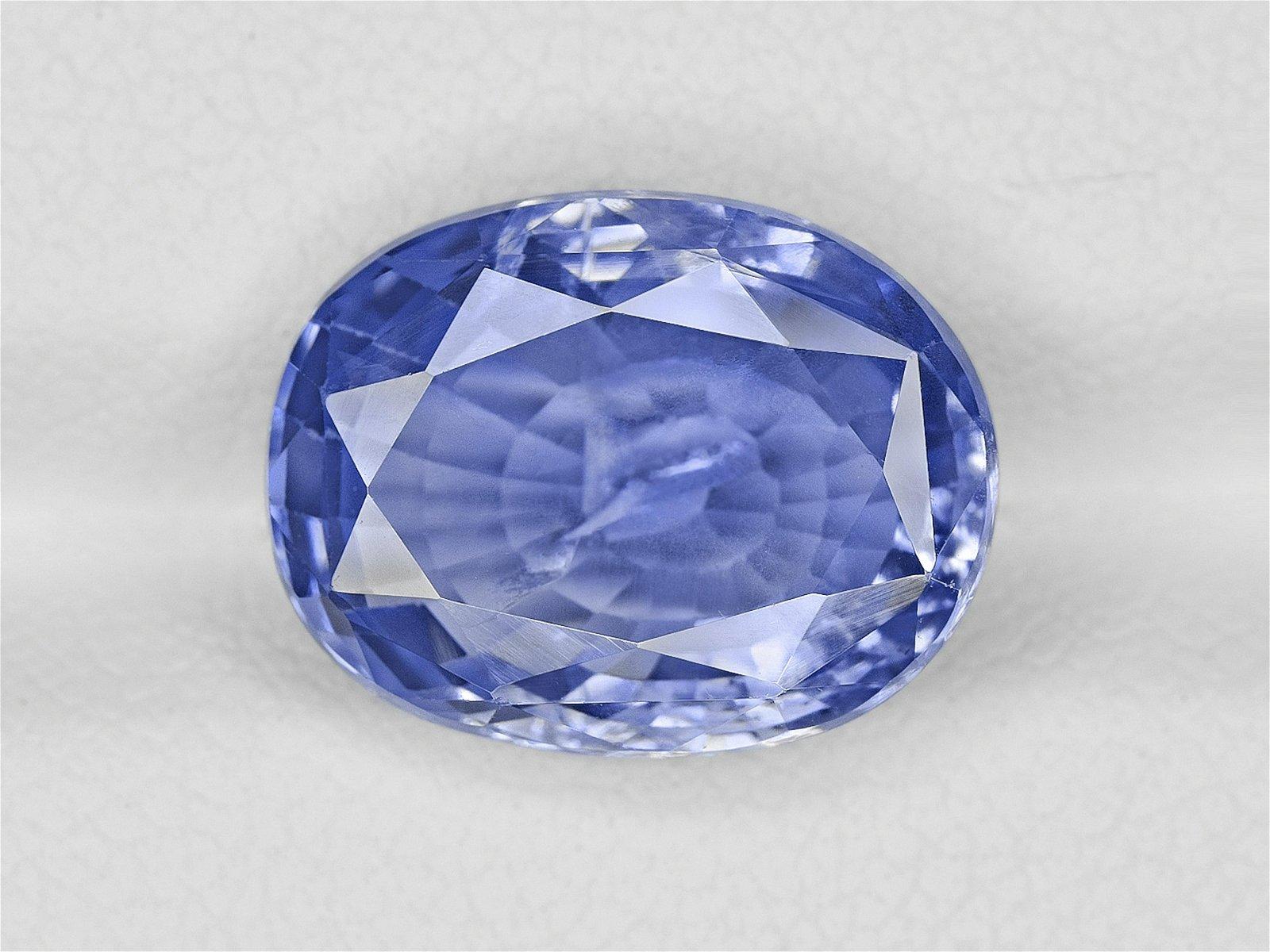 Blue Sapphire, 8.70ct, Mined in Sri Lanka, Certified by