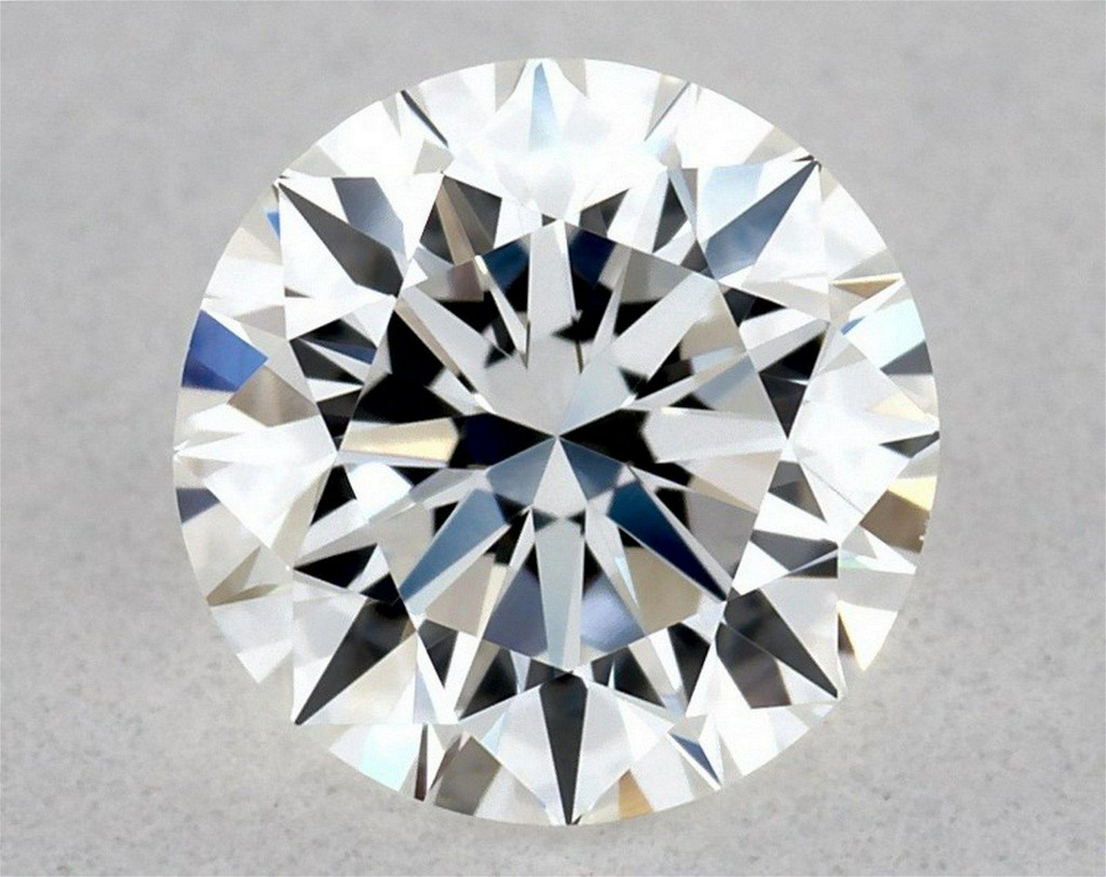 IGI Certified 0.51 Ct E VVS2 Round Brilliant Diamond