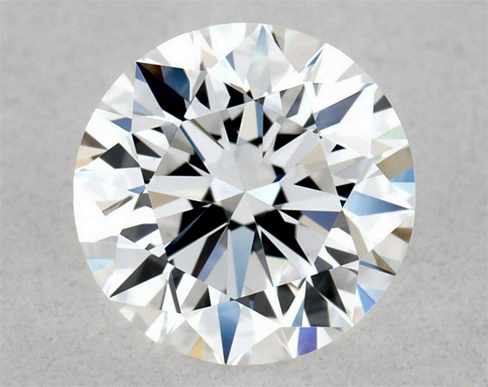 IGI Certified 0.51 Ct D VVS2 Round Brilliant Diamond