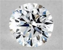 IGI Certified 0.50 Ct D VVS2 Round Brilliant Diamond