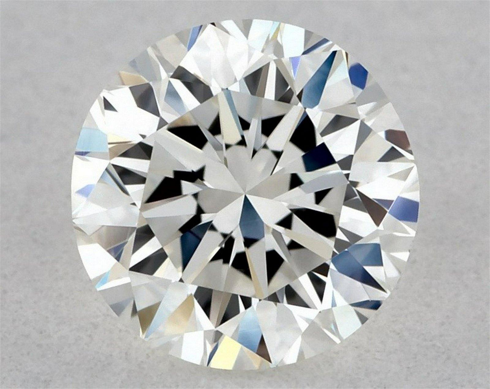 IGI Certified 0.50 Ct H VVS1 Round Brilliant Diamond