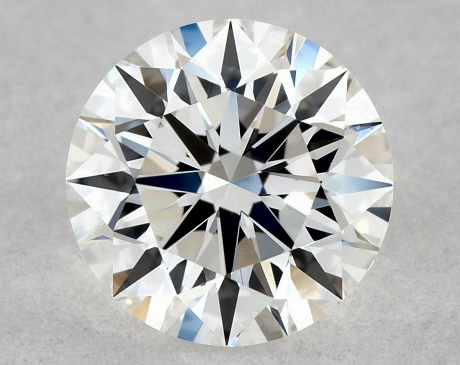 IGI Certified 0.52 Ct E VVS2 Round Brilliant Diamond