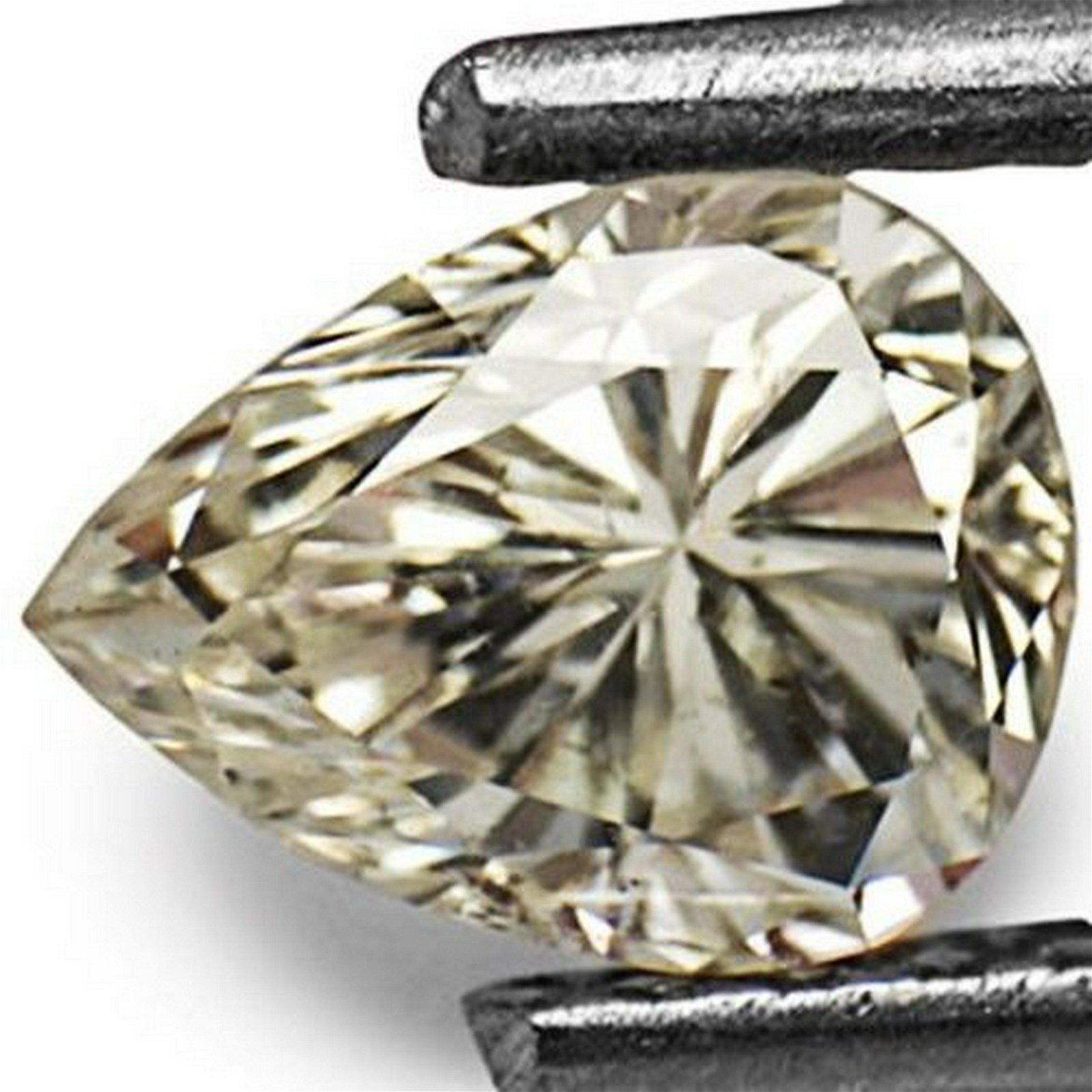 0.67-Carat Eye-Catching SI2-J Pear Shaped Diamond