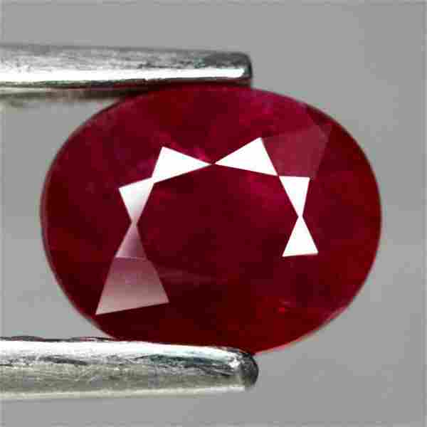 1.05 ct natural blood red ruby