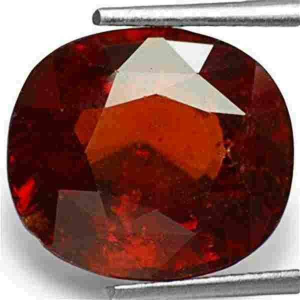 10.97-Carat Reddish Orange Sri Lankan Hessonite Garnet