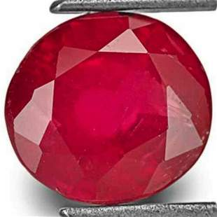 197Carat Unheated Deep Red Ruby from Tanzania