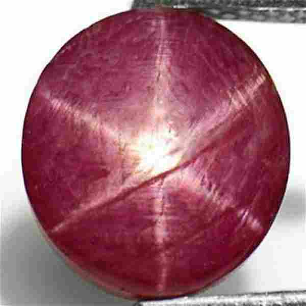 3.42-Carat Natural & Unheated Purplish Red Star Ruby