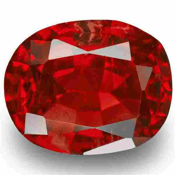 BURMA Spinel 104 Cts Natural Untreated Red Oval