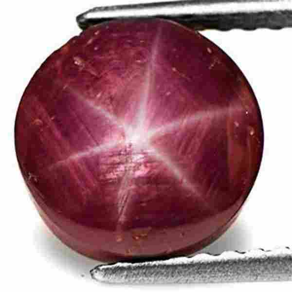 7.63-Carat Natural 6-Ray Star Ruby from Mysore (India)