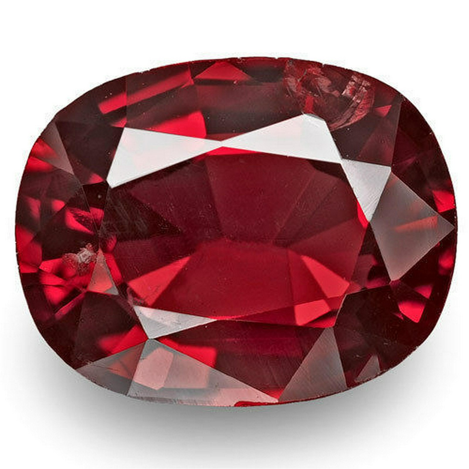 BURMA Spinel 1.24 Cts Natural Untreated Red Cushion