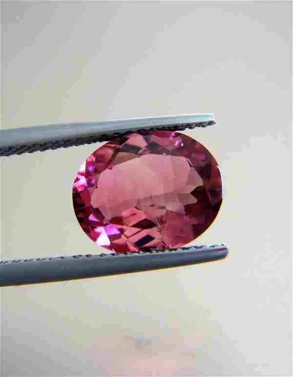 Pink Tourmaline Certified - 2.54 ct