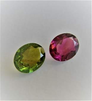 Pink Green Tourmaline Pair 400 ct