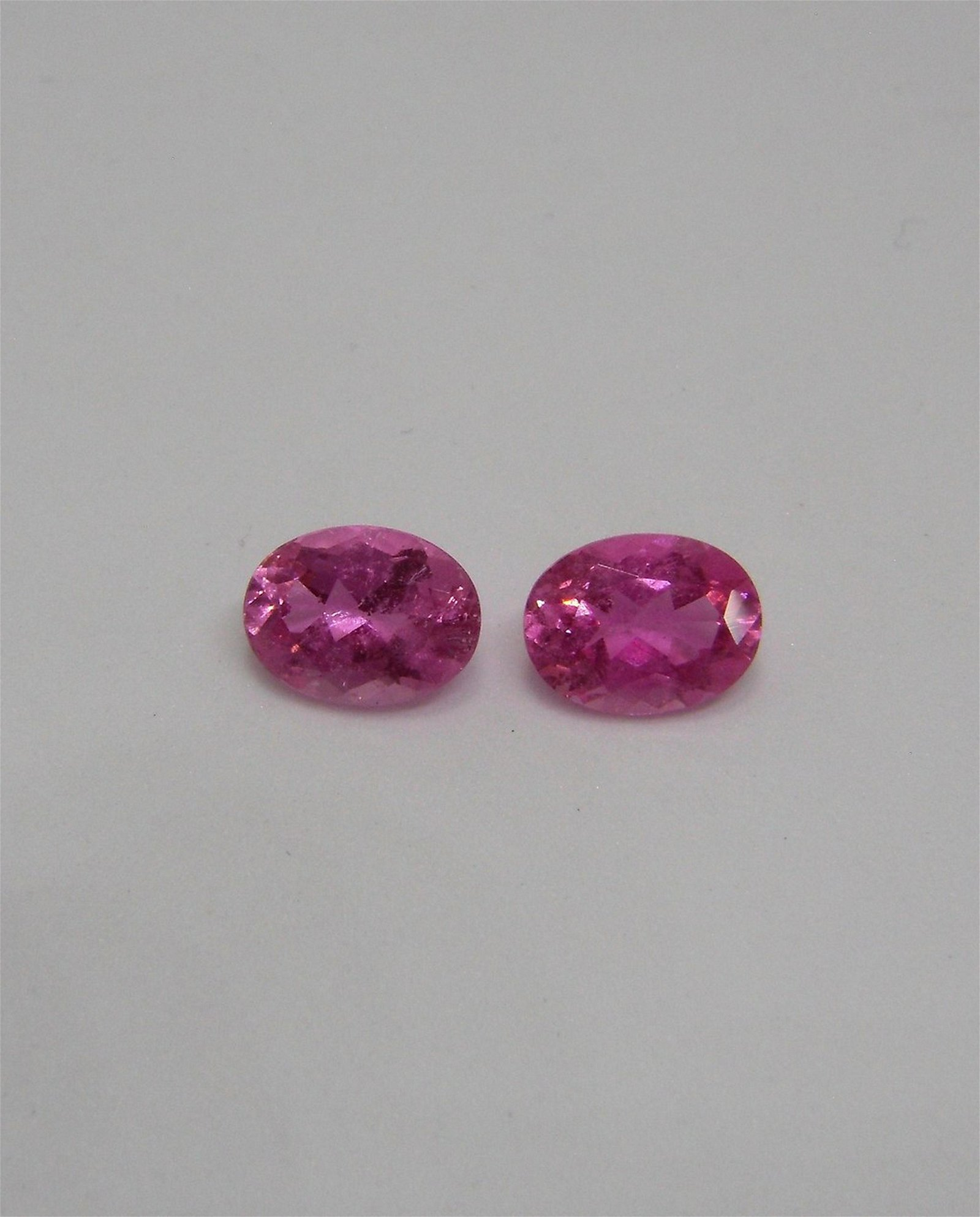 Rubellite Tourmaline Pair Certified - 2.59 ct