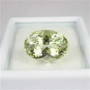 456 Ct Natural Yellowish Green Beryl Oval Cut