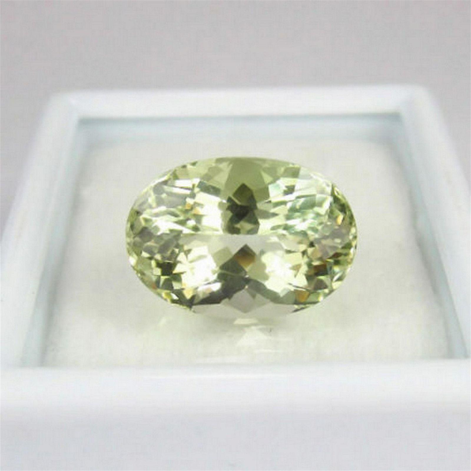 4.56 Ct Natural Yellowish Green Beryl Oval Cut