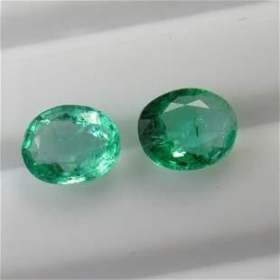 300 Ct Genuine Zambian Emerald Oval Pair