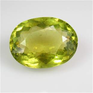 1788 Ctw Natural Yellowish Green Apatite 195X145 mm