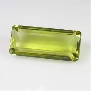 1959 Ctw Natural Lemon Quartz 24X105 mm Octagon Cut