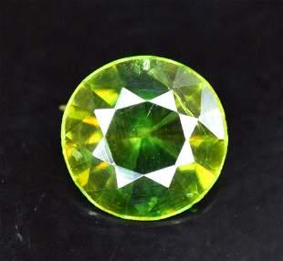 075 cts Rare Extreme Full Fire Green Sphene Titanite