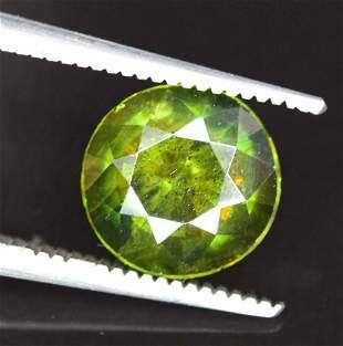 145 cts Rare Extreme Full Fire Green Sphene Titanite