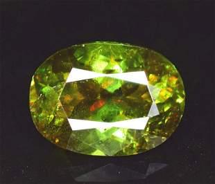 175 carats Full Fire Natural Chrome Sphene Titanite
