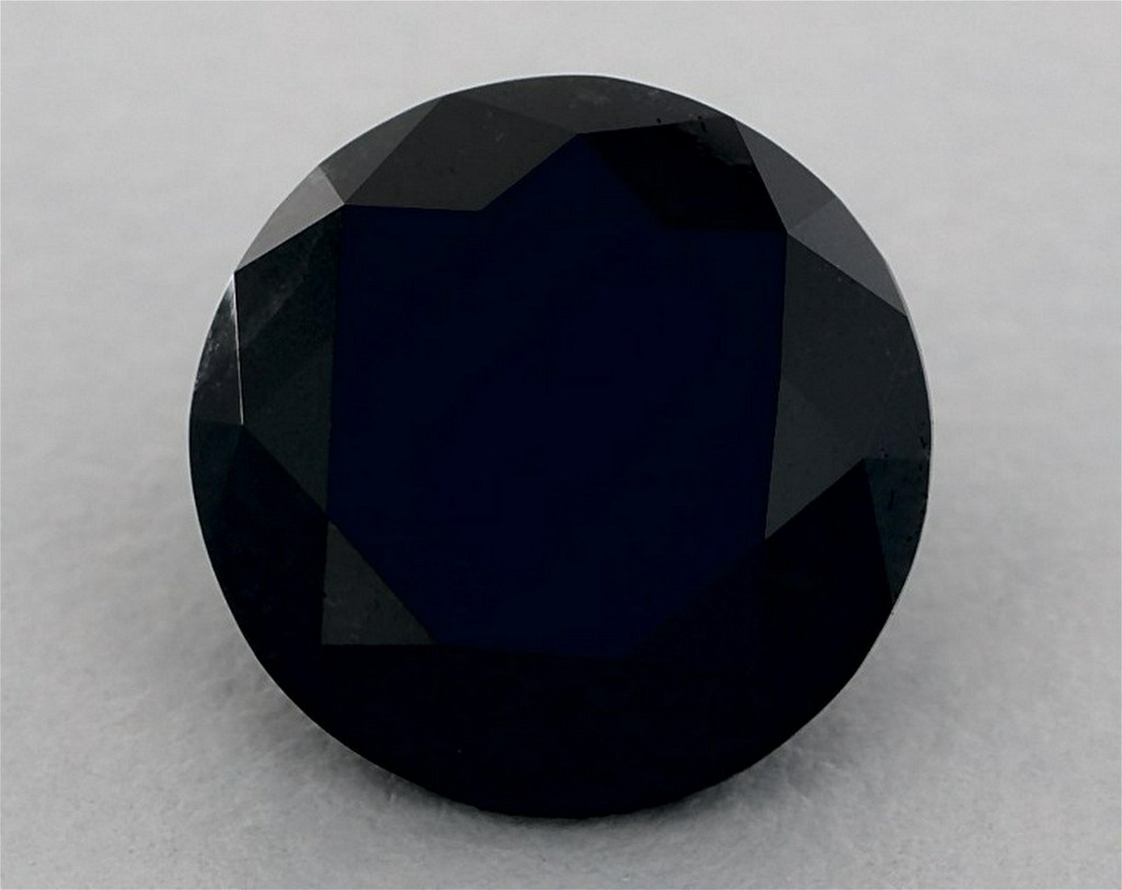 GIA Certified 3.50 Ct Fancy Black Round Brilliant