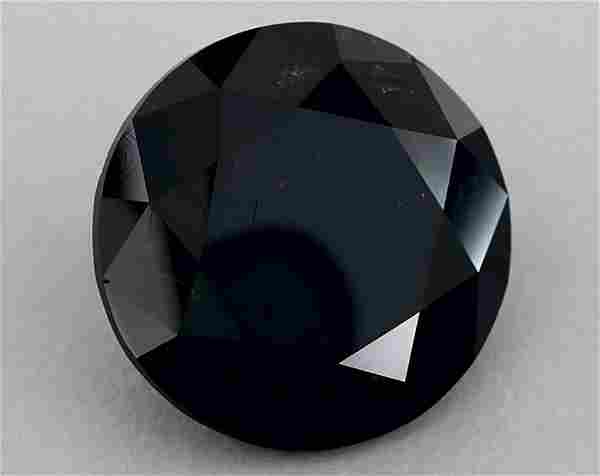GIA Certified 693 Ct Fancy Black Round Brilliant