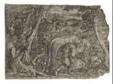1600 Galle Hunting Scene