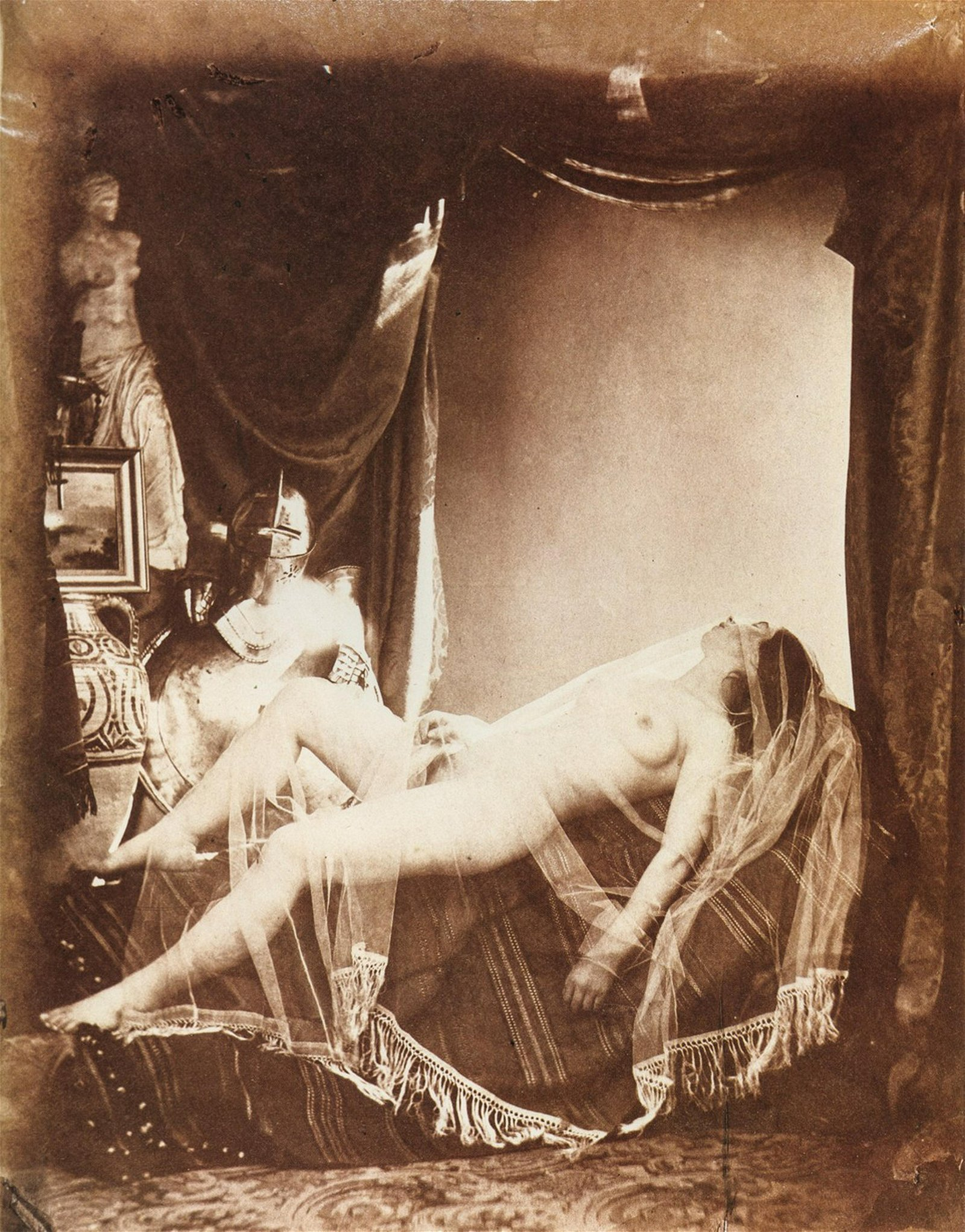 BRAQUEHAIS - Veiled Nude With Suit of Armor, 1854