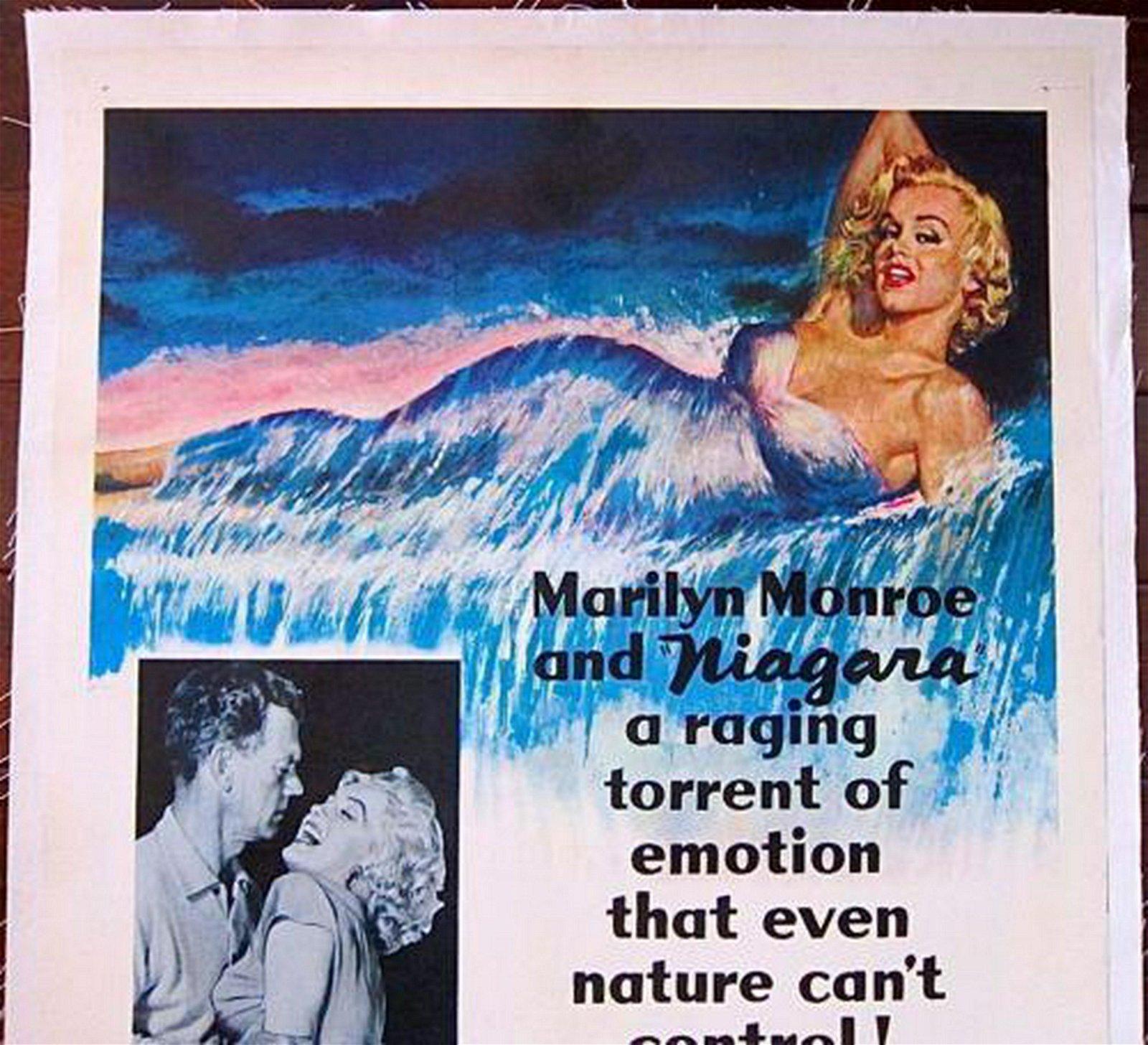 NIAGARA 1953   POSTER JOSEPH COTTON MONROE ARTWORK