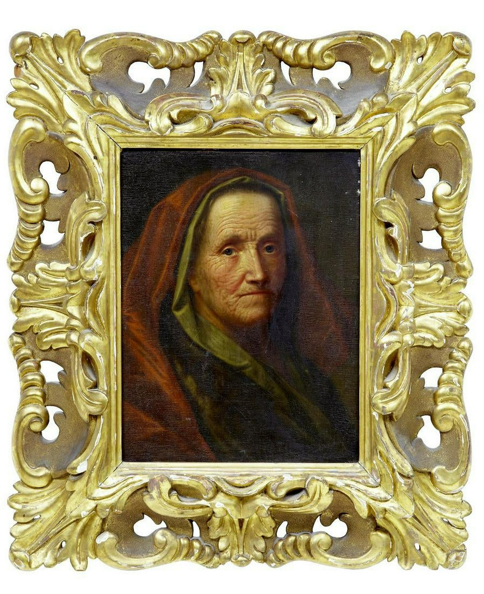 17TH CENTURY OIL ON BOARD OF LADY ATTRIBUTED TO