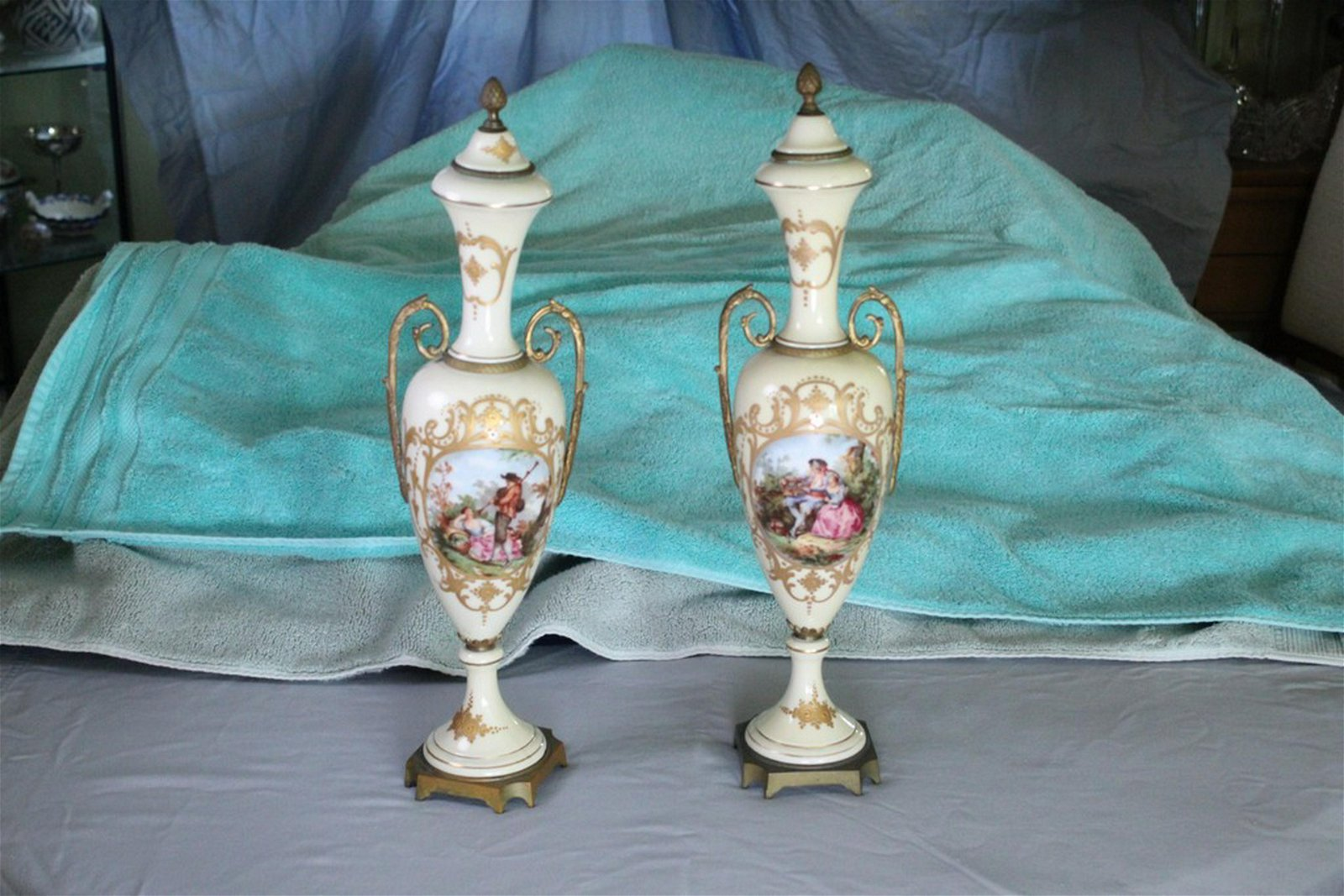 Pair of Antique French Urns