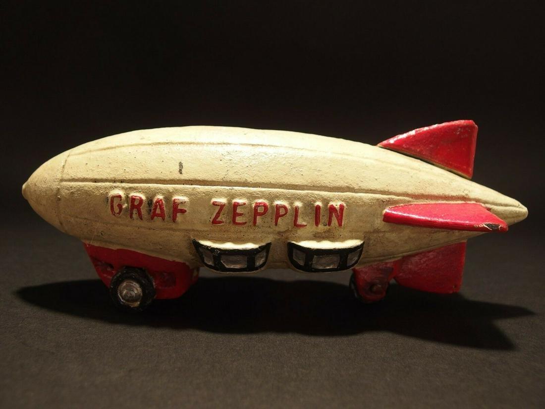 ast Iron Folk Art Graf Zepplin Toy
