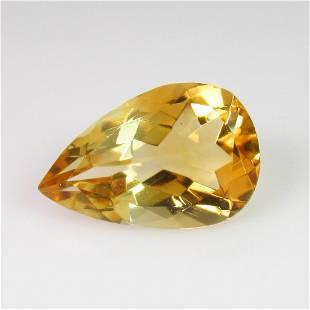 492 Ct Genuine Yellow Citrine Pear Cut