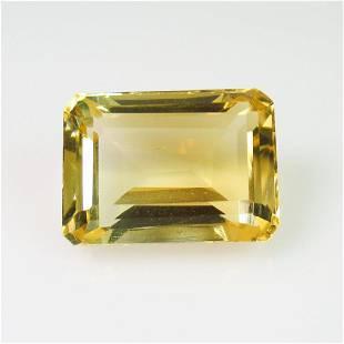 823 Ct Genuine Yellow Citrine Emerald Cut
