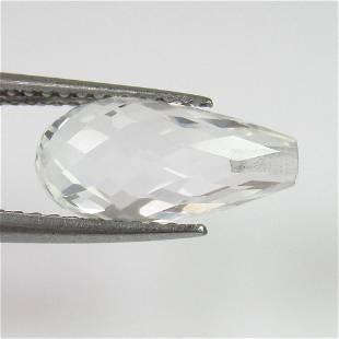 401 Ct Genuine White Topaz Pear Drop