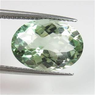 668 Ct Genuine Green Amethyst Oval Checkerboard Cut