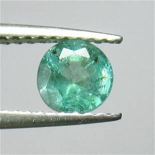 060 Ct Genuine Zambian Emerald Round Cut