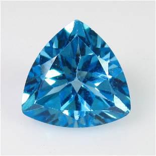 394 Ct Genuine Swiss Blue Topaz 10X10 mm Trillion Cut