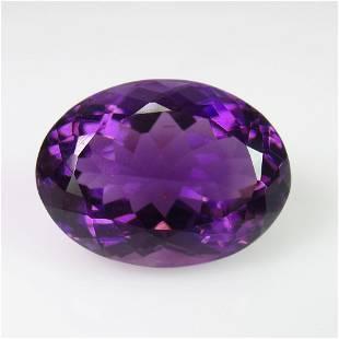 744 Ct Genuine Deep Purple Amethyst Oval Cut