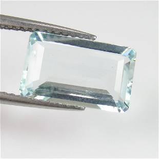 246 Ct Genuine Aquamarine Rectangle Cut