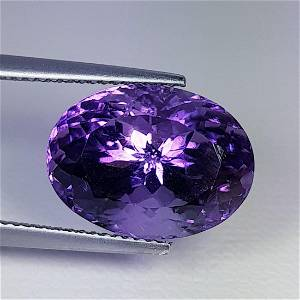 Natural Amethyst Oval Cut 11.25 ct
