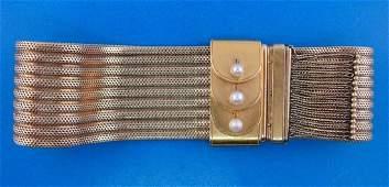 GORGEOUS Victorian 14k Yellow Gold Pearl Tassel