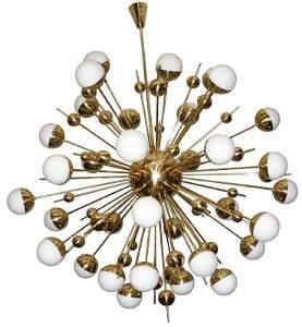 Large Brass Sputnik Chandeleir
